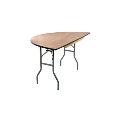 Wooden 5ft Round Half Table