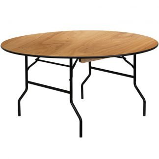Wooden 5ft Round Table