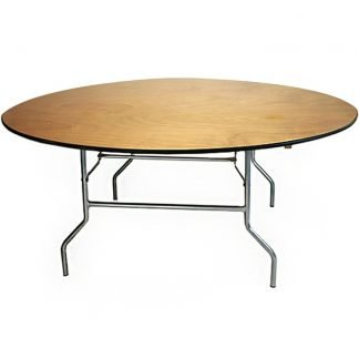 Wooden 6ft Round Table