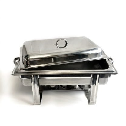 Stainless Steel 2 Burner Chafing Dish Full Tray