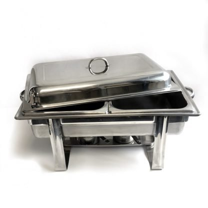Stainless Steel 2 Burner Chafing Dish Half Tray