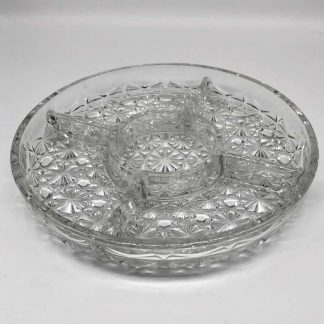 Glass Chip & Dip Tray