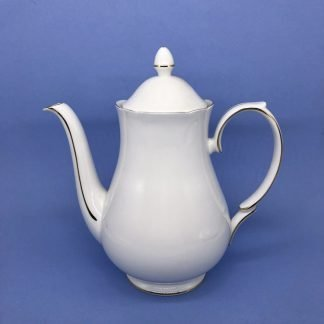 Gold Edge China Coffee Pot