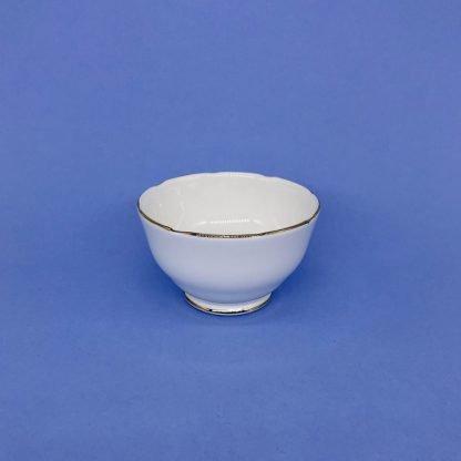 Gold Edge China Sugar Bowl