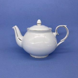 Gold Edge China Tea Pot