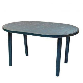 Plastic Green Oval Garden Table