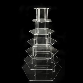 7 Tier Hexagonal Cup Cake Stand