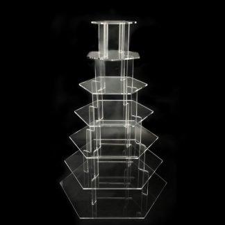 7 Tier Hexagonal Cup Cake Stand