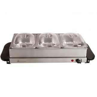 Hot Plate Buffet Server - 3 Compartment