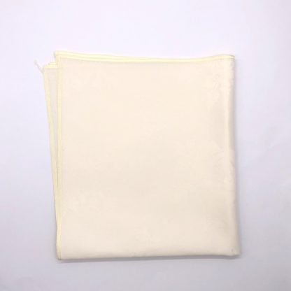 Ivory Coloured Linen Napkin With Rose Pattern