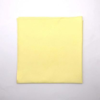 Lemon Coloured Linen Napkin With Rose Pattern