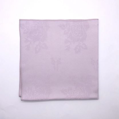 Lilac Coloured Linen Napkin With Rose Pattern