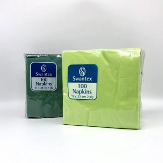 Paper Napkins 2 Ply 100 Pack in Variety of Colours