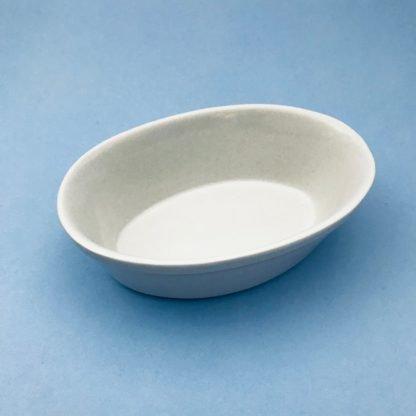 White China Pie Dish Oval
