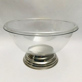 Plastic Punch Bowl with Stainless Steel Base
