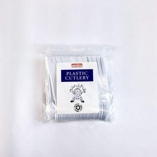 Plastic Tea Spoon White 100 Pack