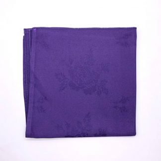 Purple Silver Colourd Linen Napking With Star Pattern