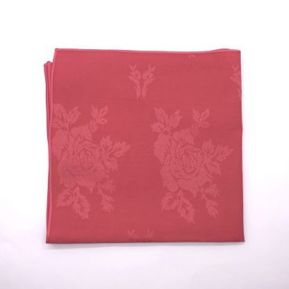 Raspberry Silver Colourd Linen Napking With Star Pattern