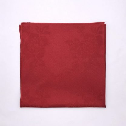 Red Silver Colourd Linen Napking With Star Pattern