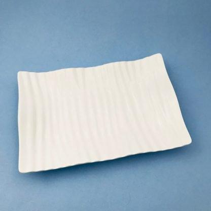 White China Ripple Plate