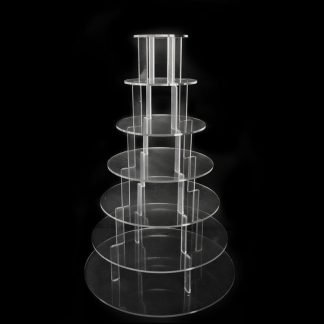 7 Tier Round Clear Cup Cake Stand