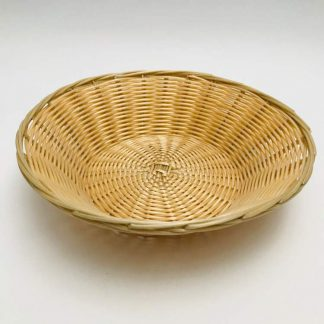 Round Wicker Bread Basket