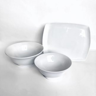 White China Serving Platters & Bowls