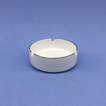 Silver Edge China Ashtray