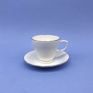 Silver Edge China Coffee Cup