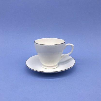 Silver Edge China Coffee Cup