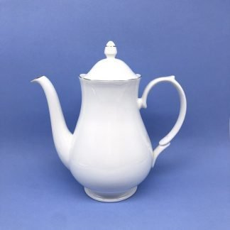 Silver Edge China Coffee Pot