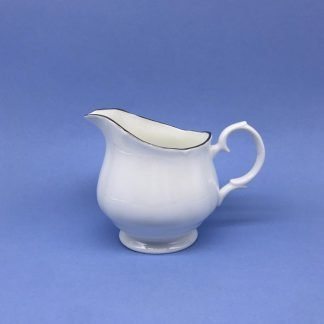 Silver Edge China Cream Jug