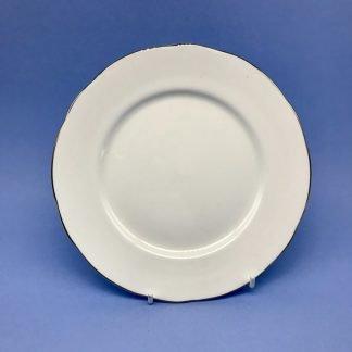 Silver Edge China Dessert Plate