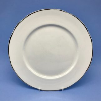 Silver Edge China Dinner Plate