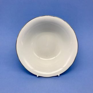 Silver Edge China Dish