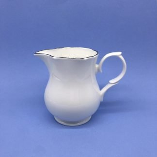 Silver Edge China Milk Jug