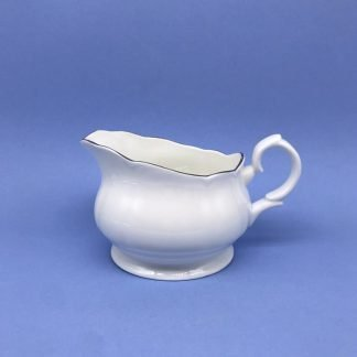 Silver Edge China Sauce Boat