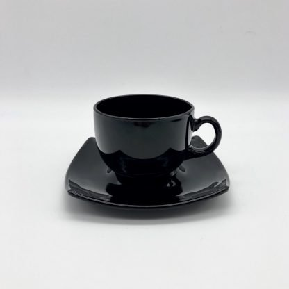 Square Black Coffee Cup