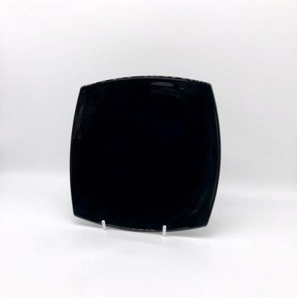 Square Black Dessert Plate