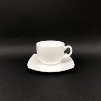 Square White Coffee Cup