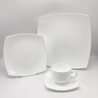 Square White China