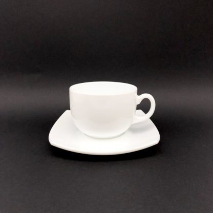 Square White Tea Cup