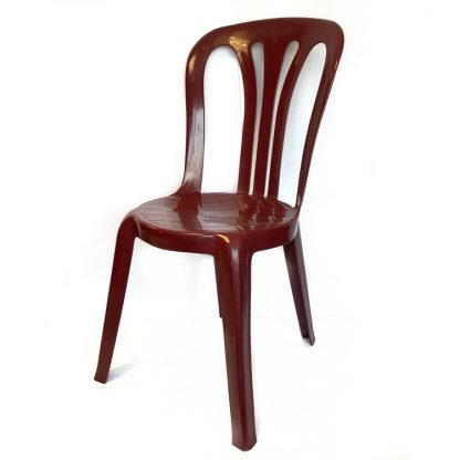 Plastic Stacking Chair Burgundy