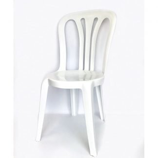 Plastic Stacking Chair White