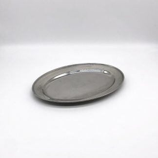 Stainless Steel Oval Flat Salver 10