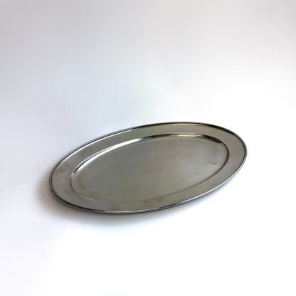Stainless Steel Oval Flat Salver 18 Inch