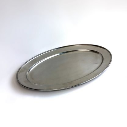Stainless Steel Oval Flat Salver 20 Inch