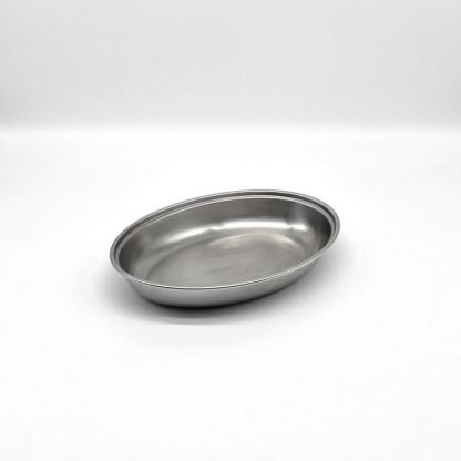 Stainless Steel Oval Veg Dish 8 Inch