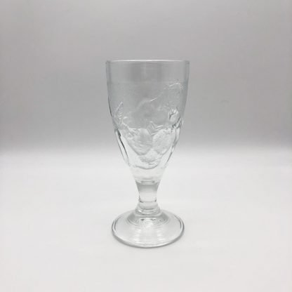 Tall Glass Patterned Sundae Dish