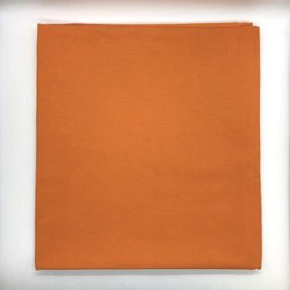 Plain Tangerine Linen